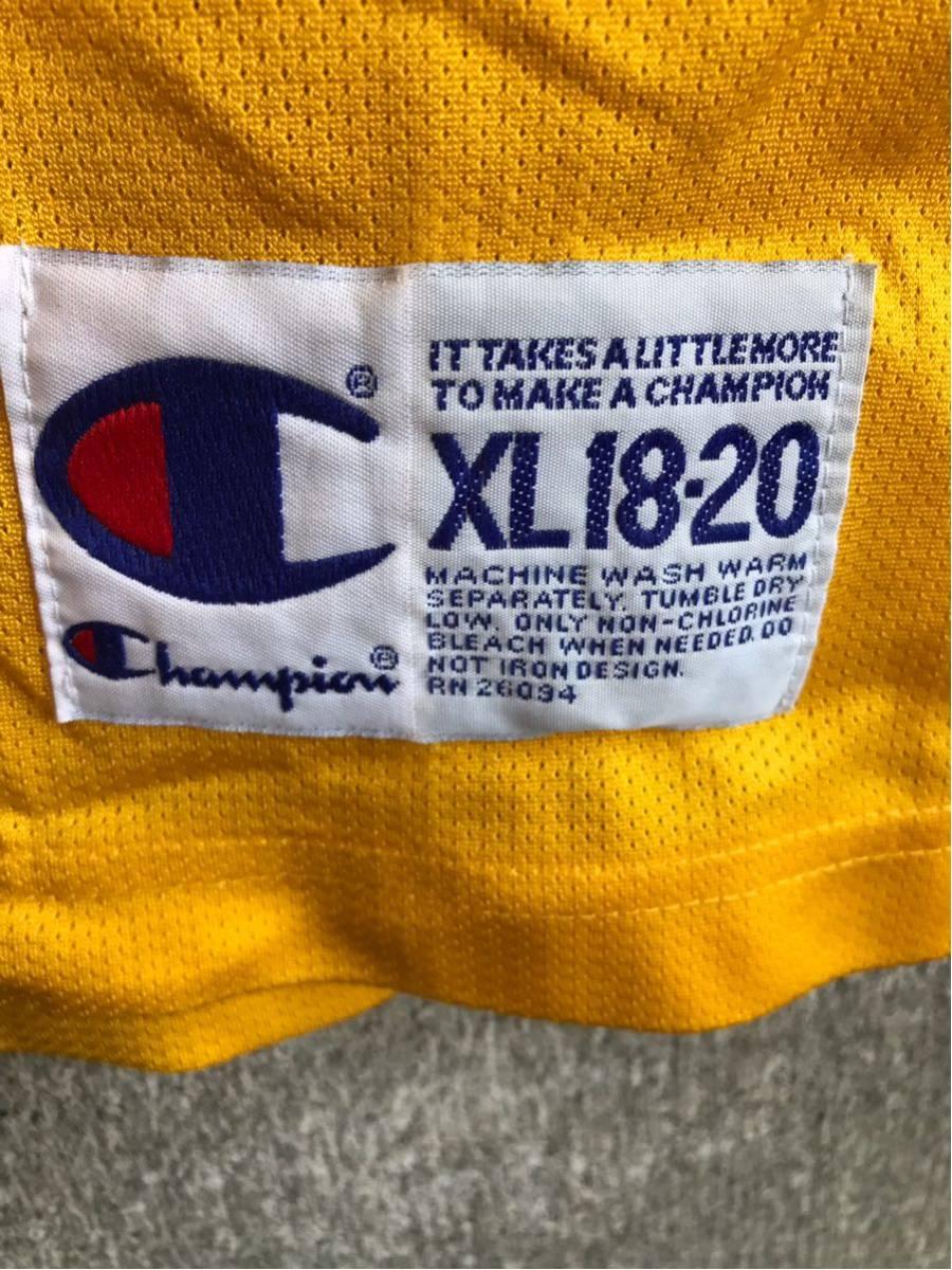 アメリカ買い付け品 1990s~ LAKERS x Champion レイカーズ x チャンピオンゲームシャツ メッシュ タンクトップ XL 18-20 ボーイズ_画像4