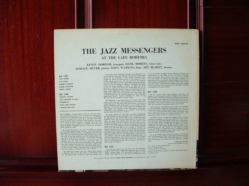 【激レア入手困難】THE JAZZ MESSENGERS / At The Cafe Bohemia Vol.1 (DG,Lexington,Art Blakey,Hank Mobley,Kenny Dorham,Blue Note)_画像2