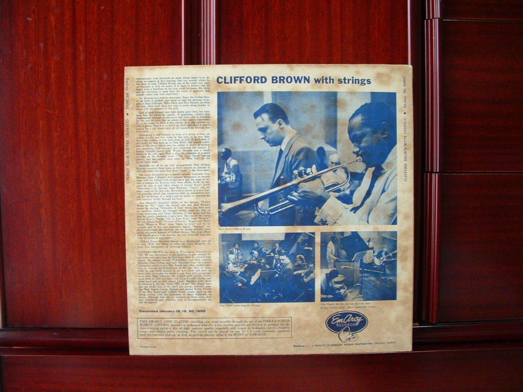 【オリジナル入手困難】CLIFFORD BROWN / With Strings (DG,銀縁,大ドラマー,YMG,Emarcy)_画像2