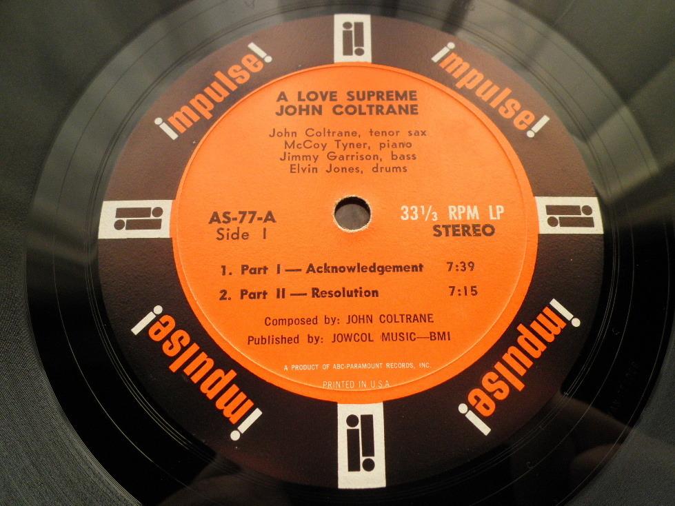 【オリジナル極美品NM】JOHN COLTRANE / A Love Supreme (艶オレンジ,ABC-PARAMOUNT,Van Gelder,Impulse)_画像3