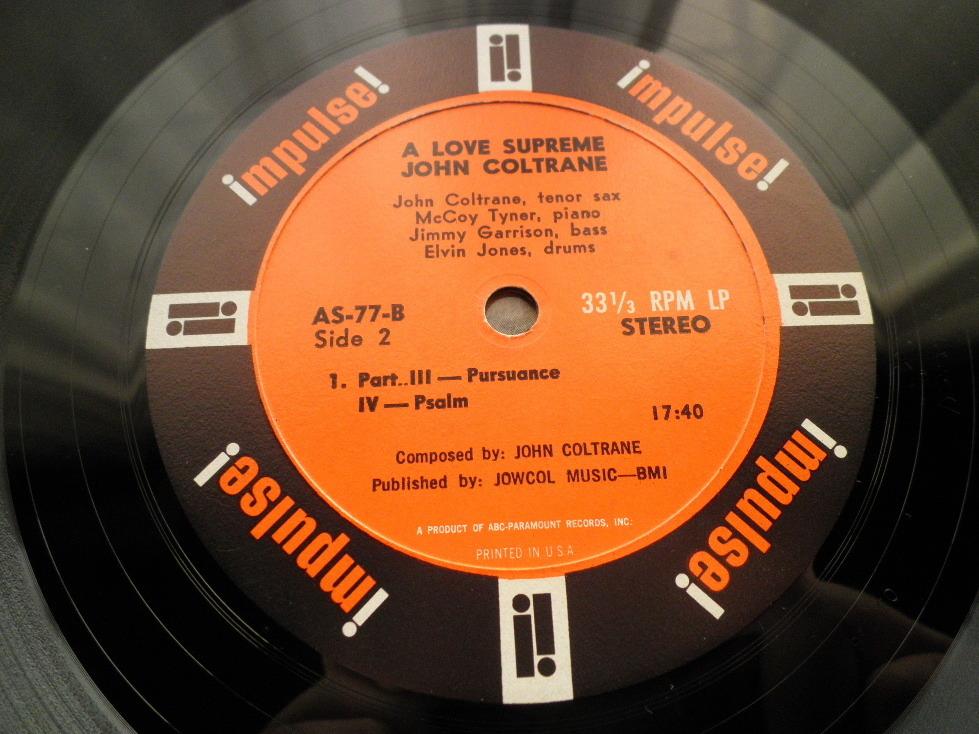 【オリジナル極美品NM】JOHN COLTRANE / A Love Supreme (艶オレンジ,ABC-PARAMOUNT,Van Gelder,Impulse)_画像4