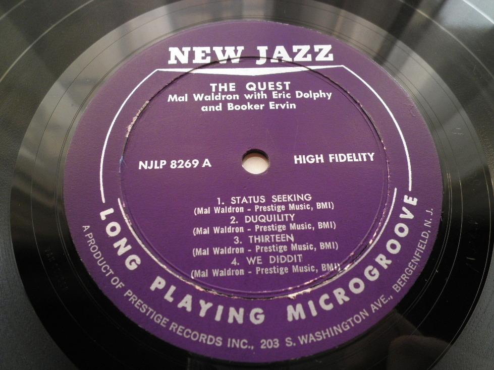 【オリジナル入手困難】MAL WALDRON / The Quest (DG,紫ラベル,RVG,Eric Dolphy,New Jazz)_画像3