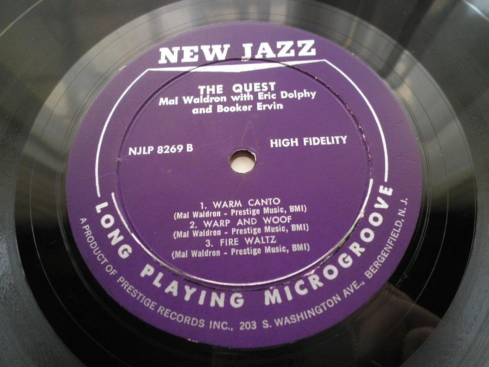 【オリジナル入手困難】MAL WALDRON / The Quest (DG,紫ラベル,RVG,Eric Dolphy,New Jazz)_画像4
