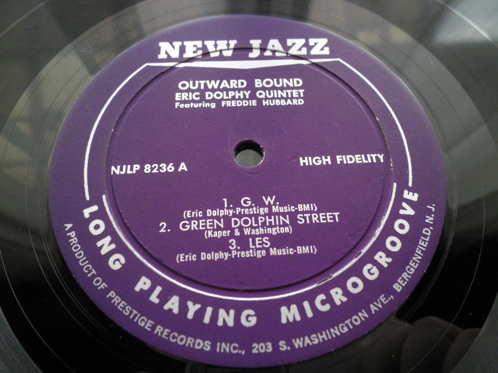 【オリジナル入手困難】ERIC DOLPHY / Outward Bound (DG,紫ラベル,RVG,New Jazz)_画像3