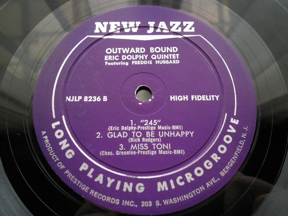 【オリジナル入手困難】ERIC DOLPHY / Outward Bound (DG,紫ラベル,RVG,New Jazz)_画像4