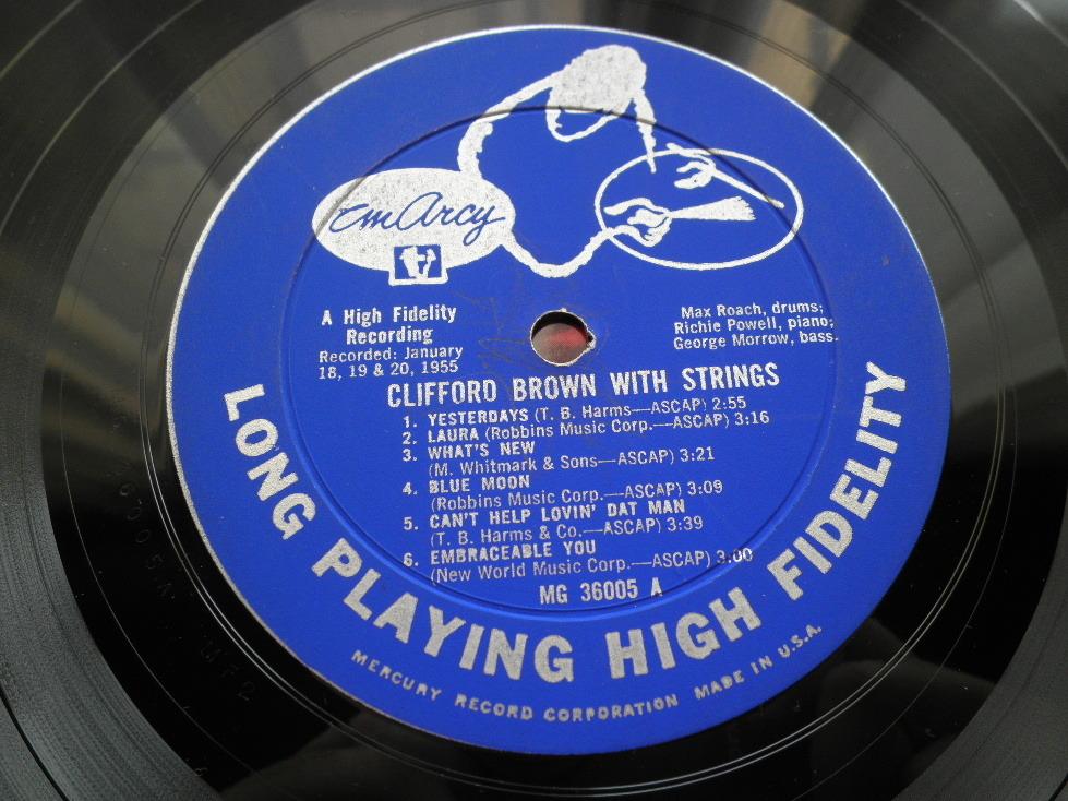 【オリジナル入手困難】CLIFFORD BROWN / With Strings (DG,銀縁,大ドラマー,YMG,Emarcy)_画像3