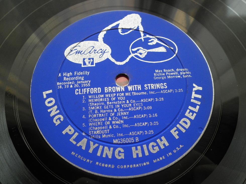 【オリジナル入手困難】CLIFFORD BROWN / With Strings (DG,銀縁,大ドラマー,YMG,Emarcy)_画像4