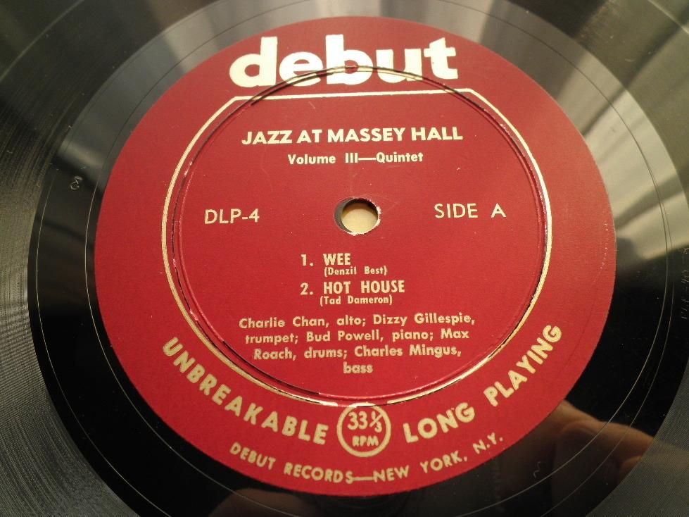 【オリジナル美品】CHARLIE PARKER / Jazz At Massey Hall Vol.3 (DG,Maroon,Debut)_画像3