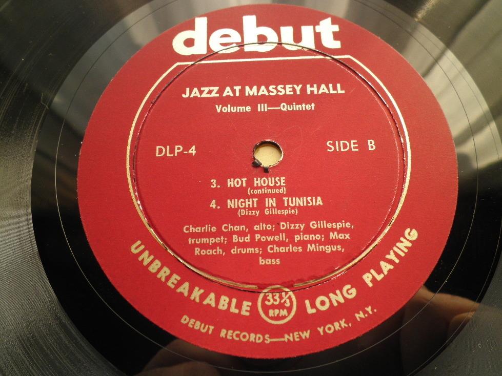 【オリジナル美品】CHARLIE PARKER / Jazz At Massey Hall Vol.3 (DG,Maroon,Debut)_画像4