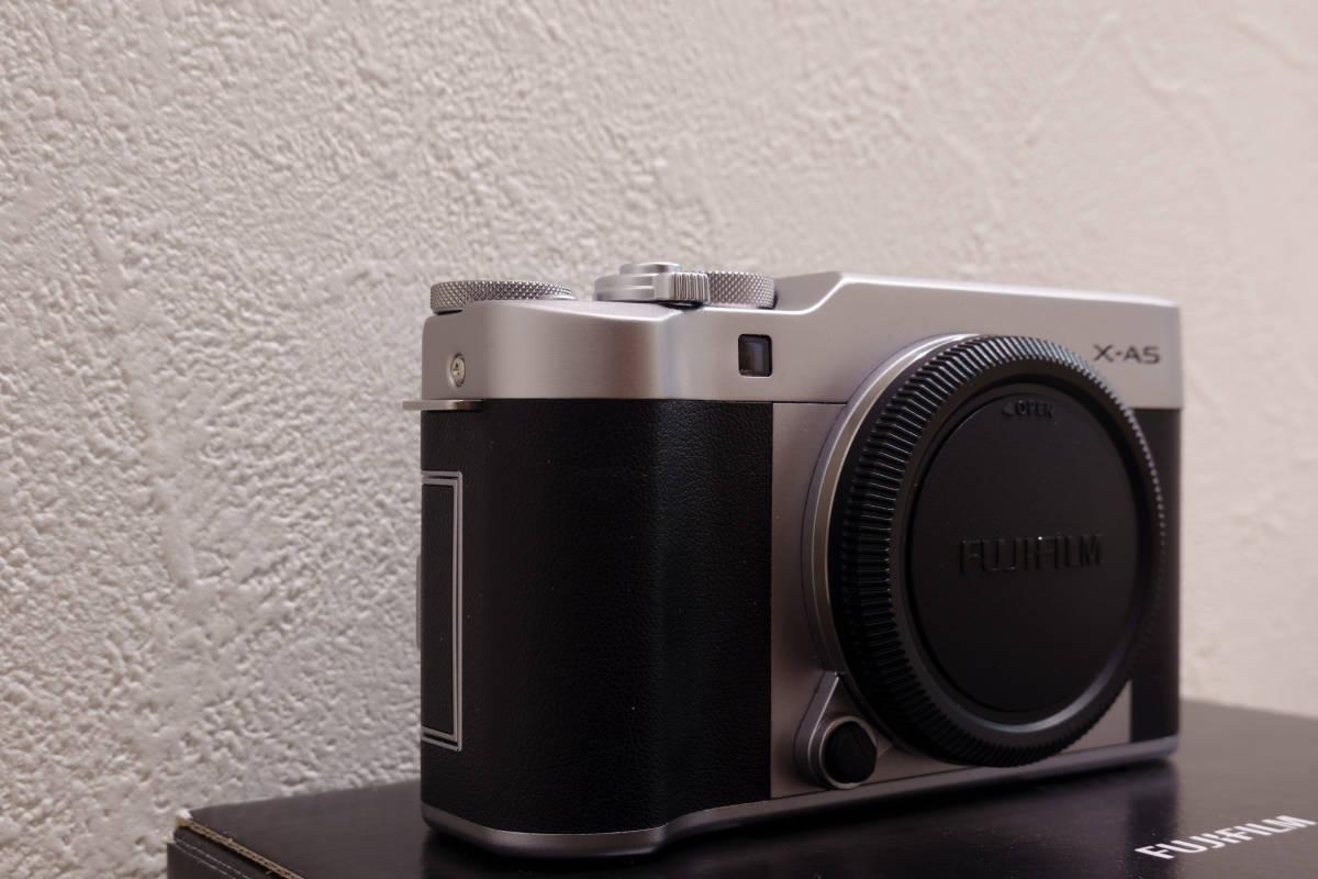 フジフイルム ミラーレスカメラ FUJIFILM X-A5 ボディ シルバー APS-C 中古_画像4