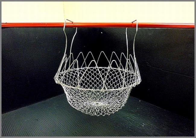 未使用品★ワイヤーバスケット キャンプ アウトドアに! ブロカント サラダカゴ エッグバスケット ザル キッチン_画像4
