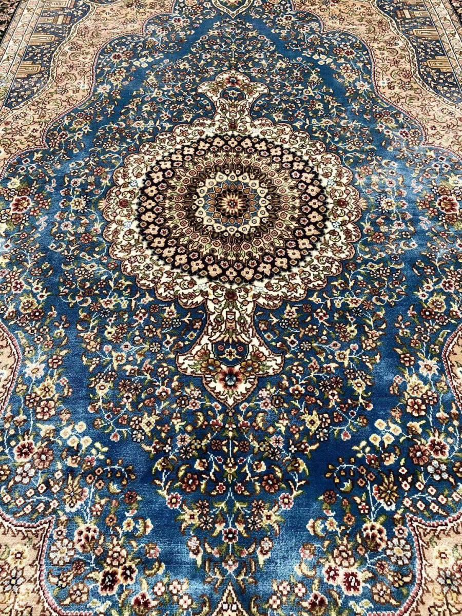 SALE!!!ペルシャ絨毯 シルク100% 手織り絨毯 122㎝x183cm (DVEV1) 私のYahoo!アカウントは1つしかありません!_画像4