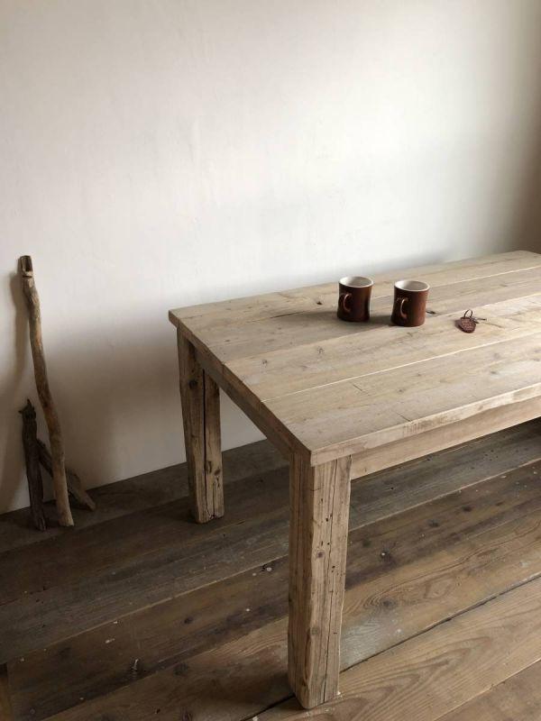 数量限定 OWT-150 ダイニングテーブル テーブル デスク ワークデスク カフェテーブル 作業台 古材 机_画像7