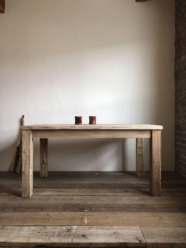 数量限定 OWT-150 ダイニングテーブル テーブル デスク ワークデスク カフェテーブル 作業台 古材 机_画像10