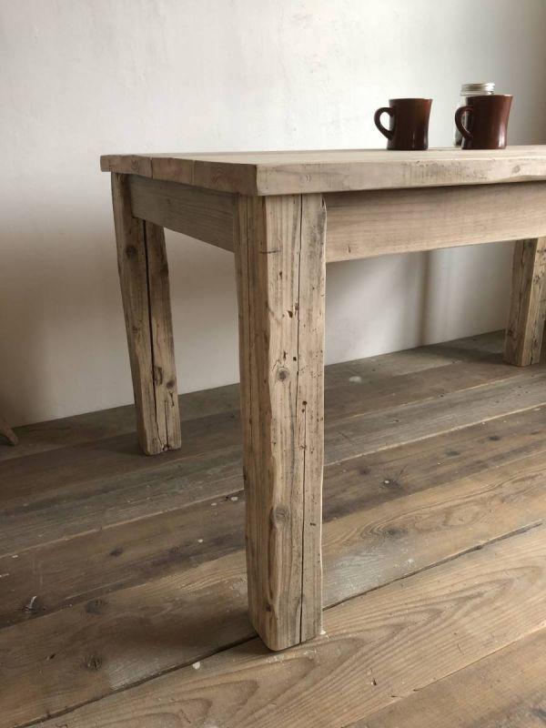 数量限定 OWT-150 ダイニングテーブル テーブル デスク ワークデスク カフェテーブル 作業台 古材 机_画像4