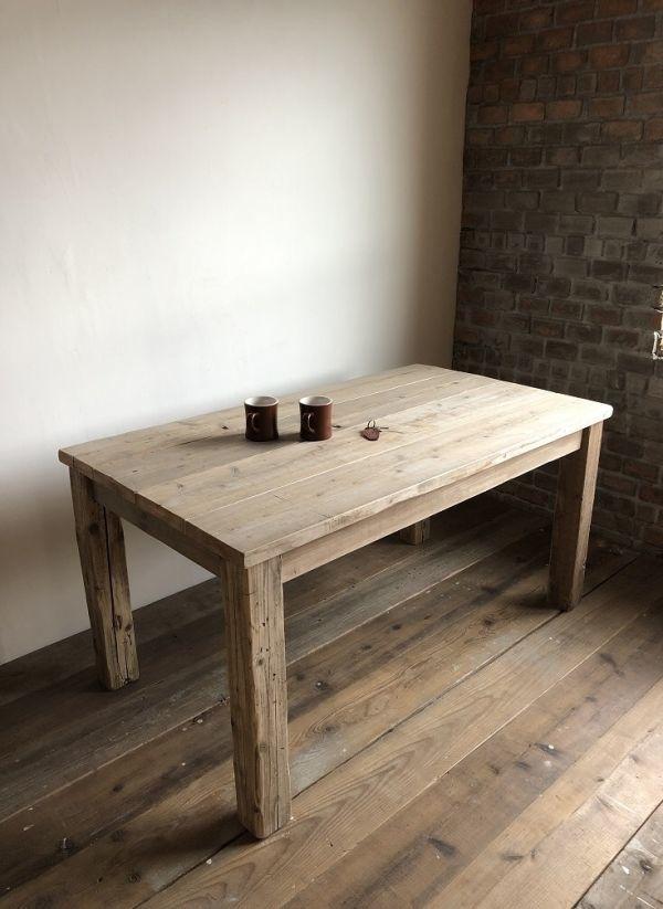 数量限定 OWT-150 ダイニングテーブル テーブル デスク ワークデスク カフェテーブル 作業台 古材 机_画像2