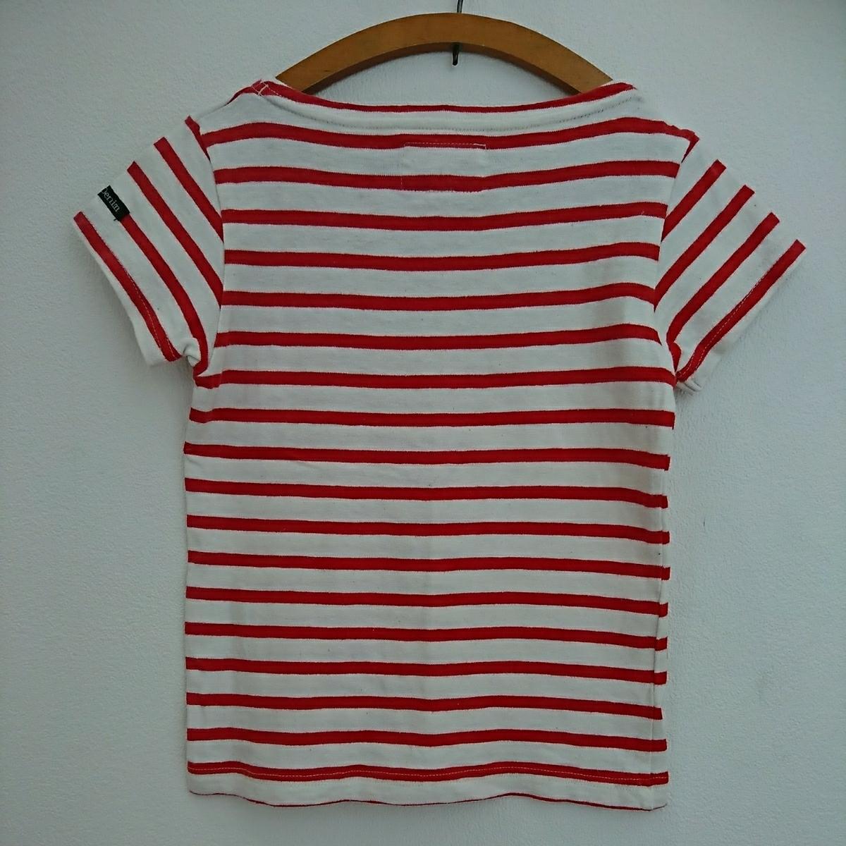 DENIM DUNGAREE ボーダーTシャツ 120 レッド FITH ゴートゥーハリウッド GO TO HOLLYWOOD デニム&ダンガリー 半袖 カットソー_画像3
