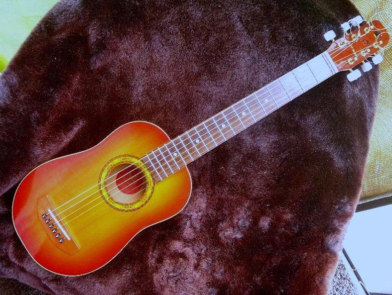 【限定値下げ】「 K.YAIRI ENJOY PART-2」「 LADY BIRD 」ジャパンビンテージ コレクター向き トラベルギター ミニアコーステイックギター