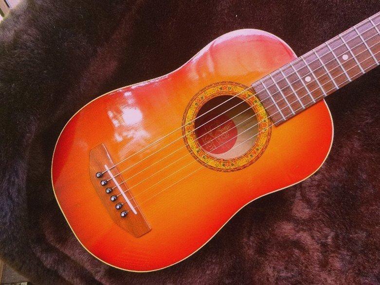 【限定値下げ】「 K.YAIRI ENJOY PART-2」「 LADY BIRD 」ジャパンビンテージ コレクター向き トラベルギター ミニアコーステイックギター_画像3