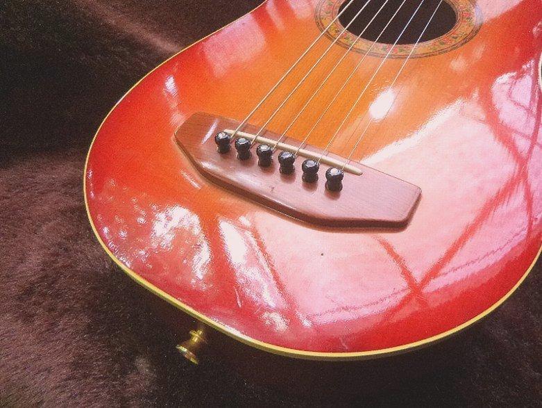 【限定値下げ】「 K.YAIRI ENJOY PART-2」「 LADY BIRD 」ジャパンビンテージ コレクター向き トラベルギター ミニアコーステイックギター_画像4