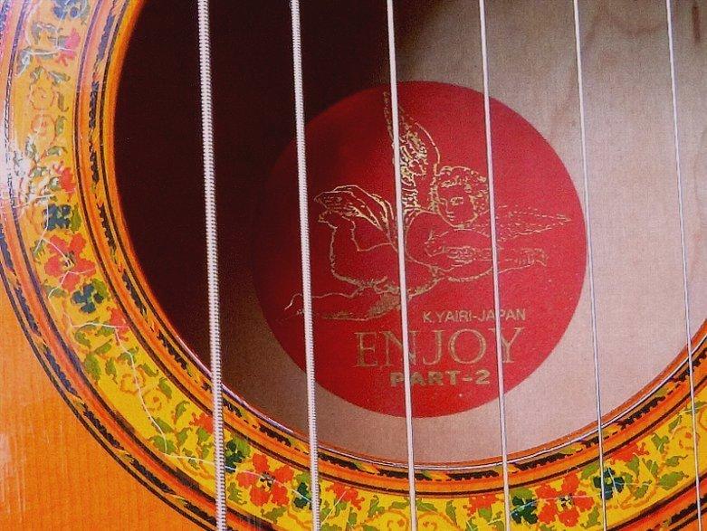 【限定値下げ】「 K.YAIRI ENJOY PART-2」「 LADY BIRD 」ジャパンビンテージ コレクター向き トラベルギター ミニアコーステイックギター_画像5