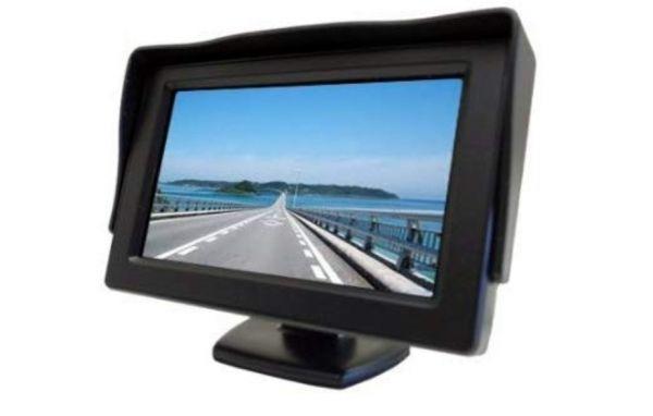 2系統の映像入力 12V車用  ミニオンダッシュ液晶モニター 4.3インチ