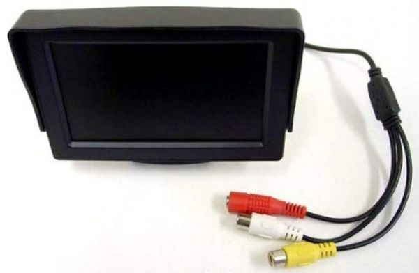 2系統の映像入力 12V車用  ミニオンダッシュ液晶モニター 4.3インチ_画像2