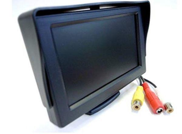 2系統の映像入力 12V車用  ミニオンダッシュ液晶モニター 4.3インチ_画像3