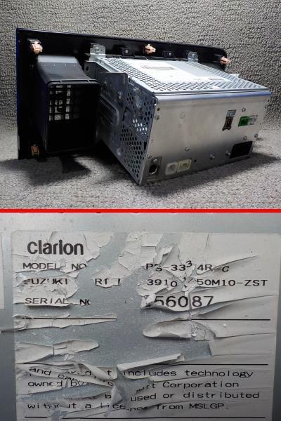 モコ MG33S MRワゴン MF33S 純正 CDデッキ CD/USB/iPod USBコード付き PS-3334R-C 39101-50M10●19010510三J1709●_画像5