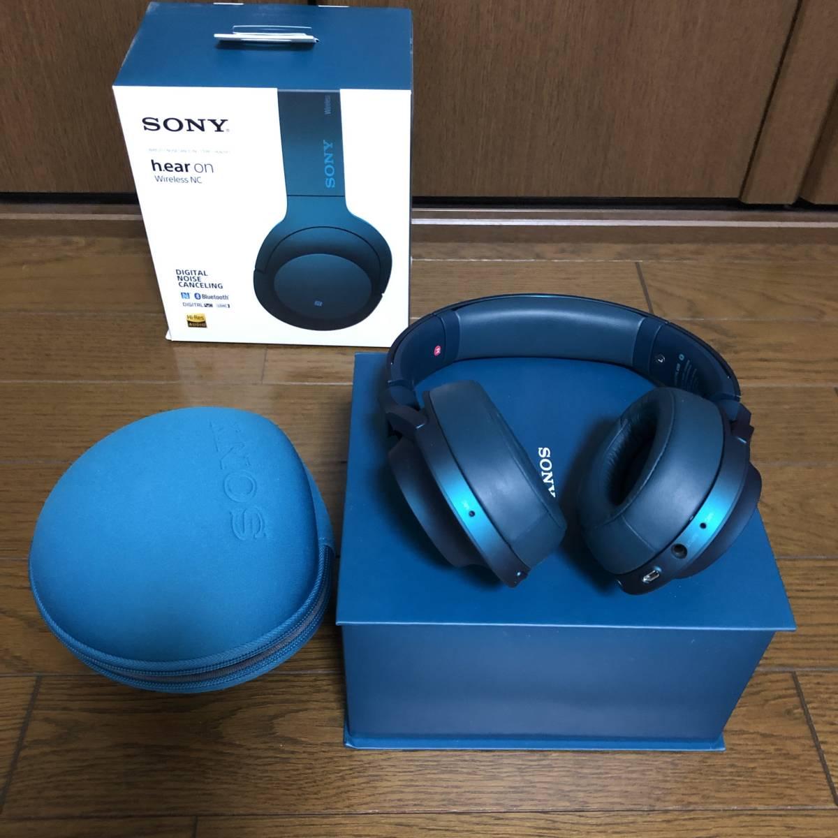 ソニー SONY ワイヤレスノイズキャンセリングヘッドホン h.ear on Wireless MDR-100ABN_画像2