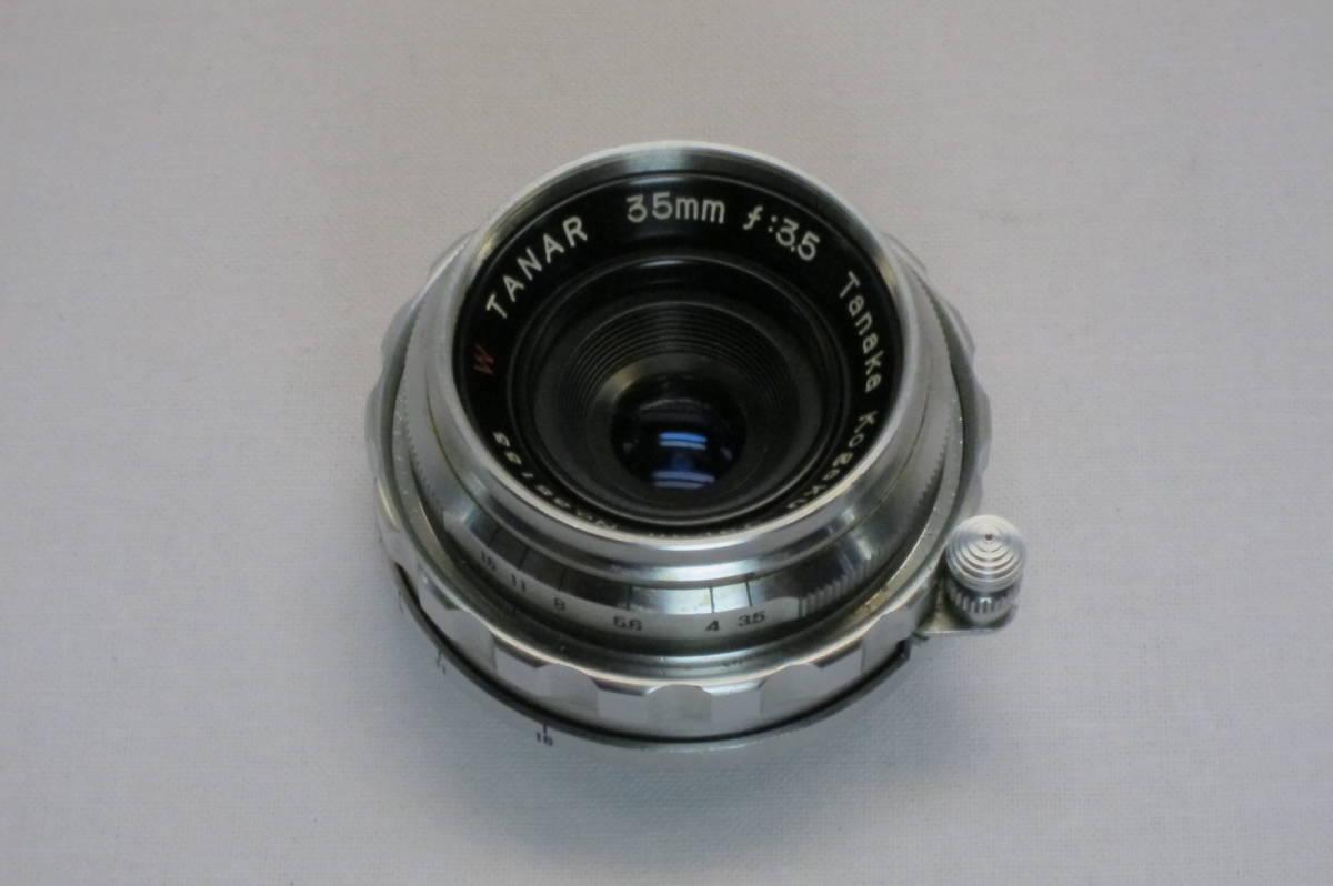 希少 W TANAR 35mm 1:3.5 Tanaka Kogaku Japan ライカLマウント_画像2