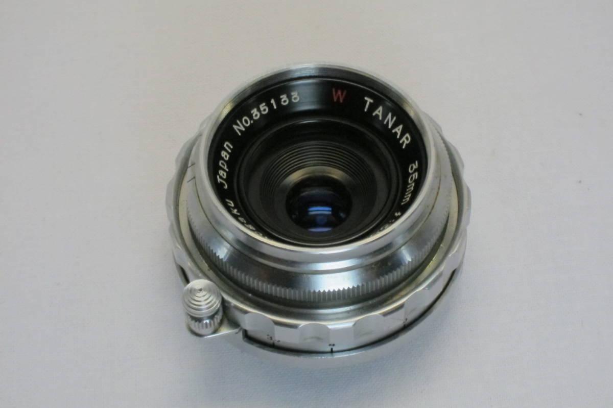 希少 W TANAR 35mm 1:3.5 Tanaka Kogaku Japan ライカLマウント_画像3