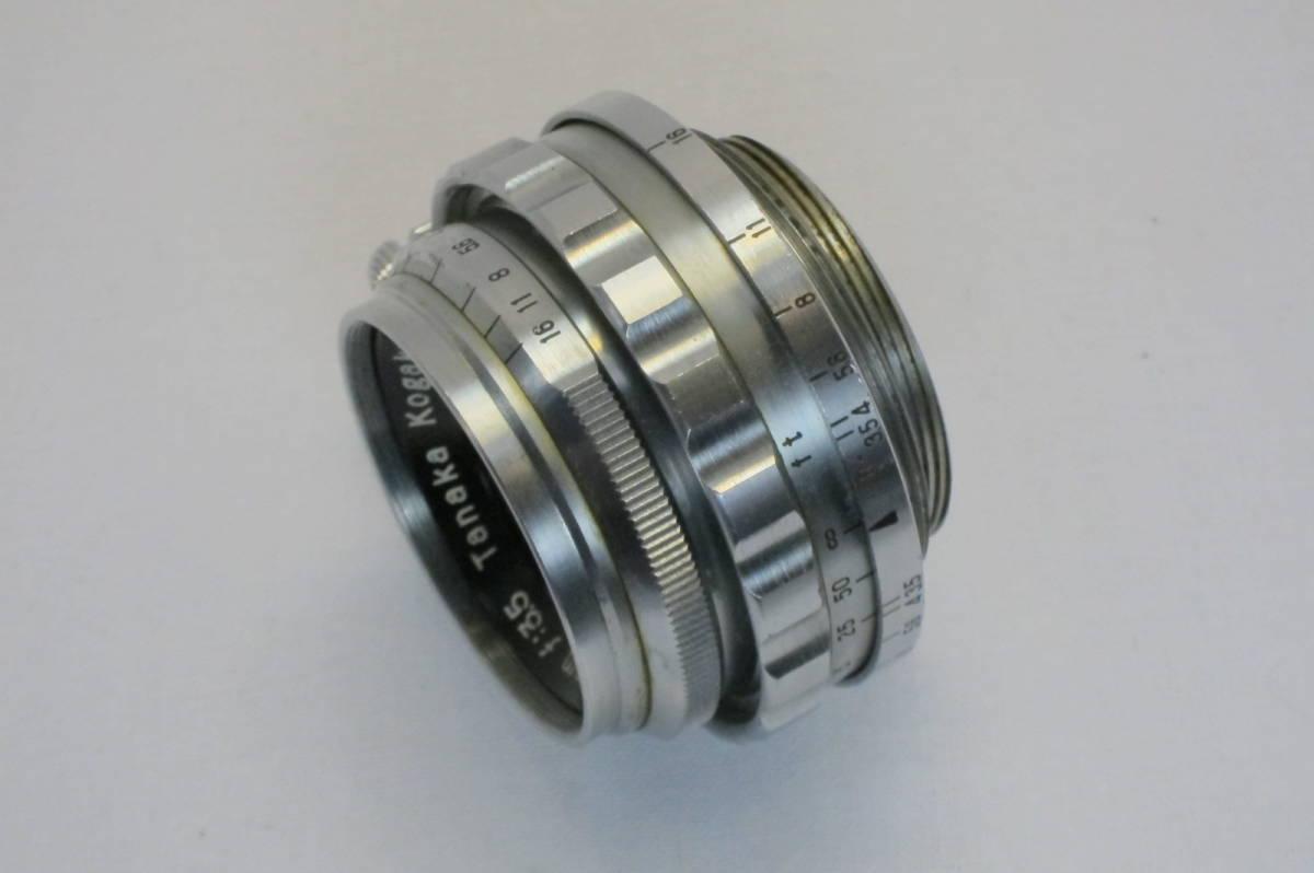 希少 W TANAR 35mm 1:3.5 Tanaka Kogaku Japan ライカLマウント_画像5