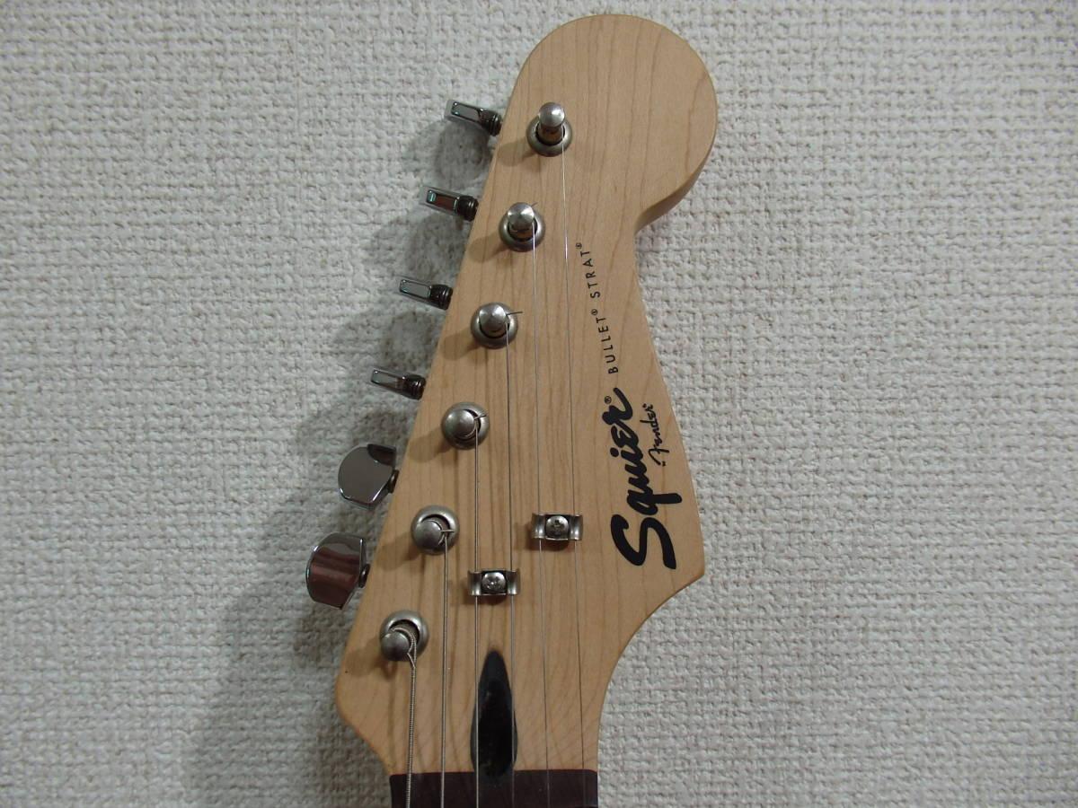 美品!格安!Squier by Fender スクワイアーBullet Strat サンバースト/スクワイヤー フェンダー ストラトキャスターAffinity エレキ_画像2