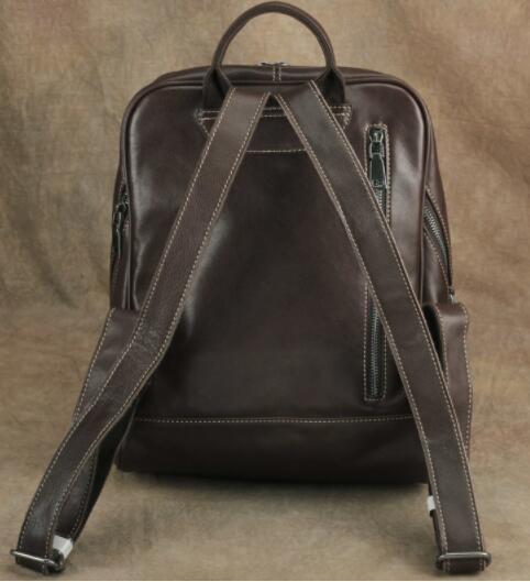 409190高級 リュックサック 男女兼用バッグ 本革 レザー スタイリッシュ 品質保証 多機能 大容量 通勤 出張 旅行_画像4