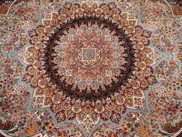 人気推薦豪華天然☆シルク100% ペルシャ絨毯☆入ペルシャ絨毯☆ウール高密度300万縫い針世界の名品☆200*300CMWS2_画像6