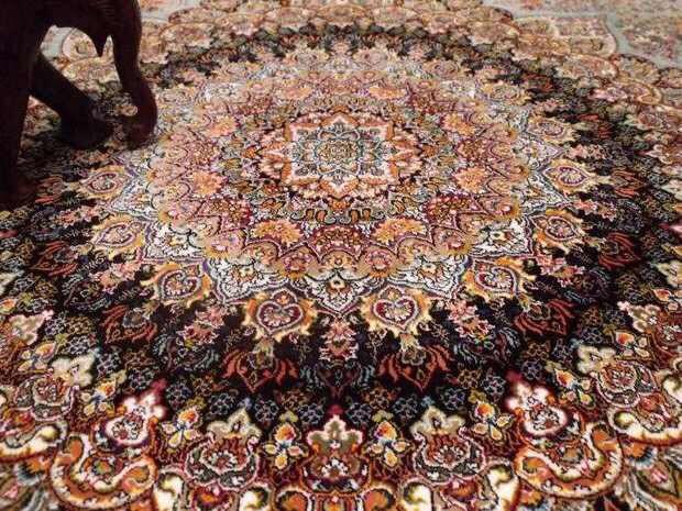 人気推薦豪華天然☆シルク100% ペルシャ絨毯☆入ペルシャ絨毯☆ウール高密度300万縫い針世界の名品☆200*300CMWS2_画像3