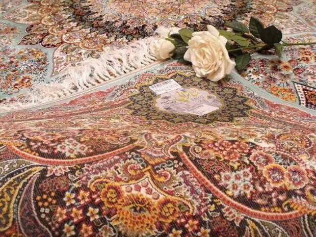 人気推薦豪華天然☆シルク100% ペルシャ絨毯☆入ペルシャ絨毯☆ウール高密度300万縫い針世界の名品☆200*300CMWS2_画像7