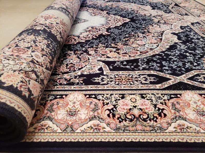 未使用品 ペルシャ絨毯 クム産 300万 シルク100% 手織り 工房サイン有り 超美品 世界の名品☆200*300CM_画像7