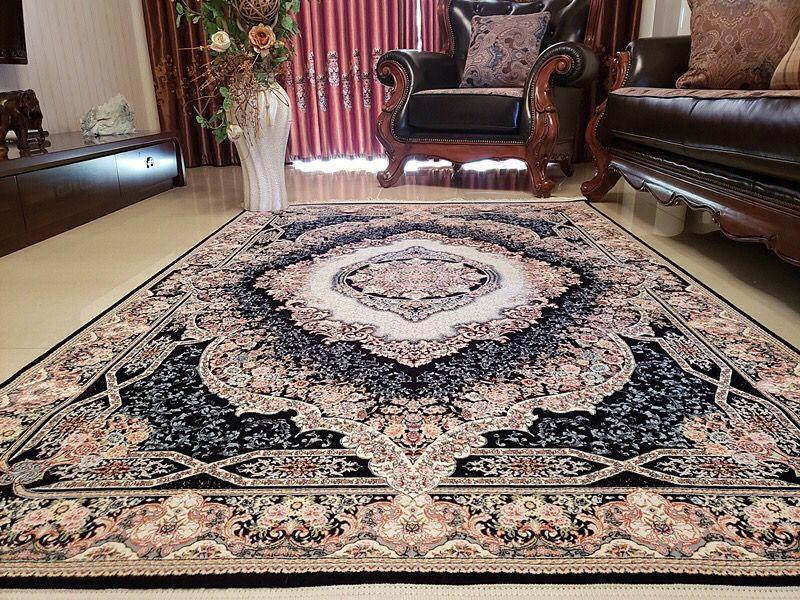 未使用品 ペルシャ絨毯 クム産 300万 シルク100% 手織り 工房サイン有り 超美品 世界の名品☆200*300CM
