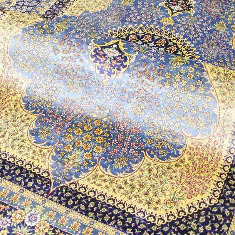 最高級品 【ペルシャ絨毯】 シルク 100%本物保証トルコ産180cm*250cm★ 200万縫い針 美術品_画像4
