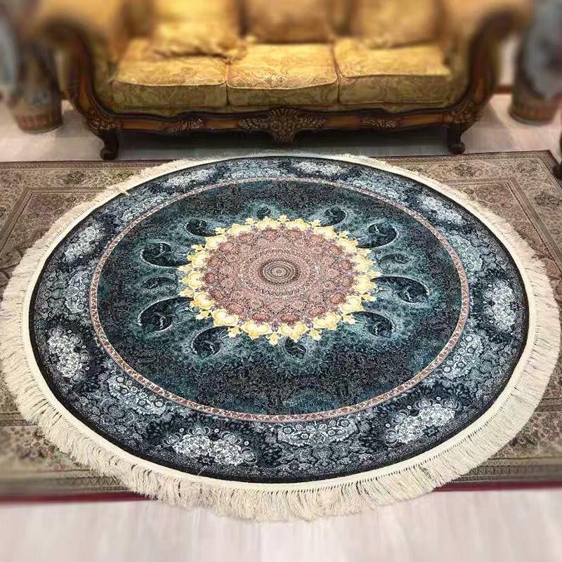 ∇花∇最高級ペルシャ絨毯① クム産超高級シルク100% 細密手織の大判 200×200cm 発表価格1300万円の超極上品