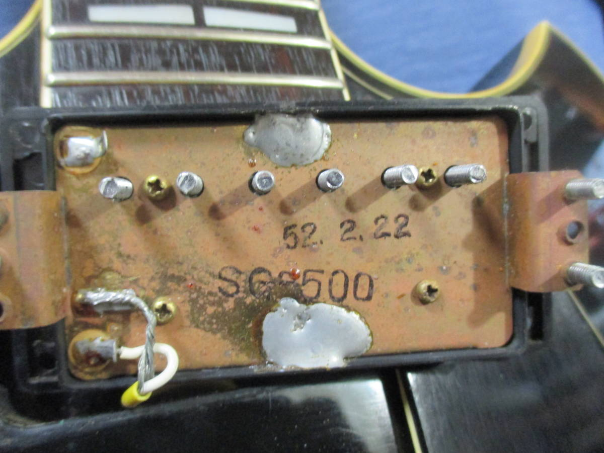 初期物 YAMAHA SG 1977 ラージヘッド SG-500 JAPAN VINTAGE 日本製! _画像4