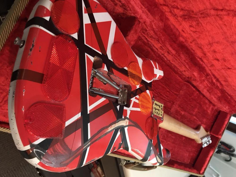 バッカス製ストラト evh フランケンモデル レリック ラッカー塗装 prs USA製ピックアップ 売り切です。_画像8