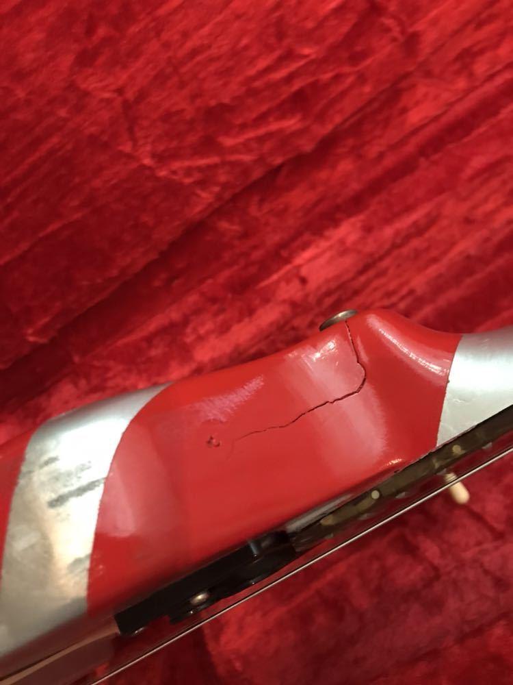 エクスプローラー改造カスタム evh シャークモデルラッカー塗装 弾きやすいです。売り切 セットネック_画像9