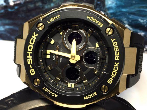 G-STEEL Gスチール 新品 CASIO カシオ G-SHOCK Gショック 正規品 タフソーラー 腕時計 GST アナデジ 腕時計 ブラック ゴールド プレゼント_画像5