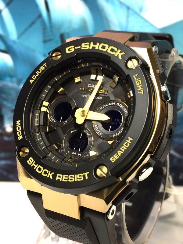 G-STEEL Gスチール 新品 CASIO カシオ G-SHOCK Gショック 正規品 タフソーラー 腕時計 GST アナデジ 腕時計 ブラック ゴールド プレゼント_画像7