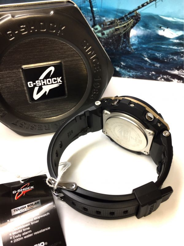G-STEEL Gスチール 新品 CASIO カシオ G-SHOCK Gショック 正規品 タフソーラー 腕時計 GST アナデジ 腕時計 ブラック ゴールド プレゼント_画像10