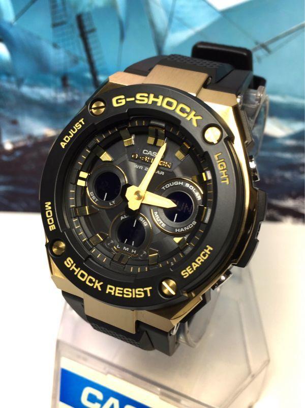 G-STEEL Gスチール 新品 CASIO カシオ G-SHOCK Gショック 正規品 タフソーラー 腕時計 GST アナデジ 腕時計 ブラック ゴールド プレゼント_画像8
