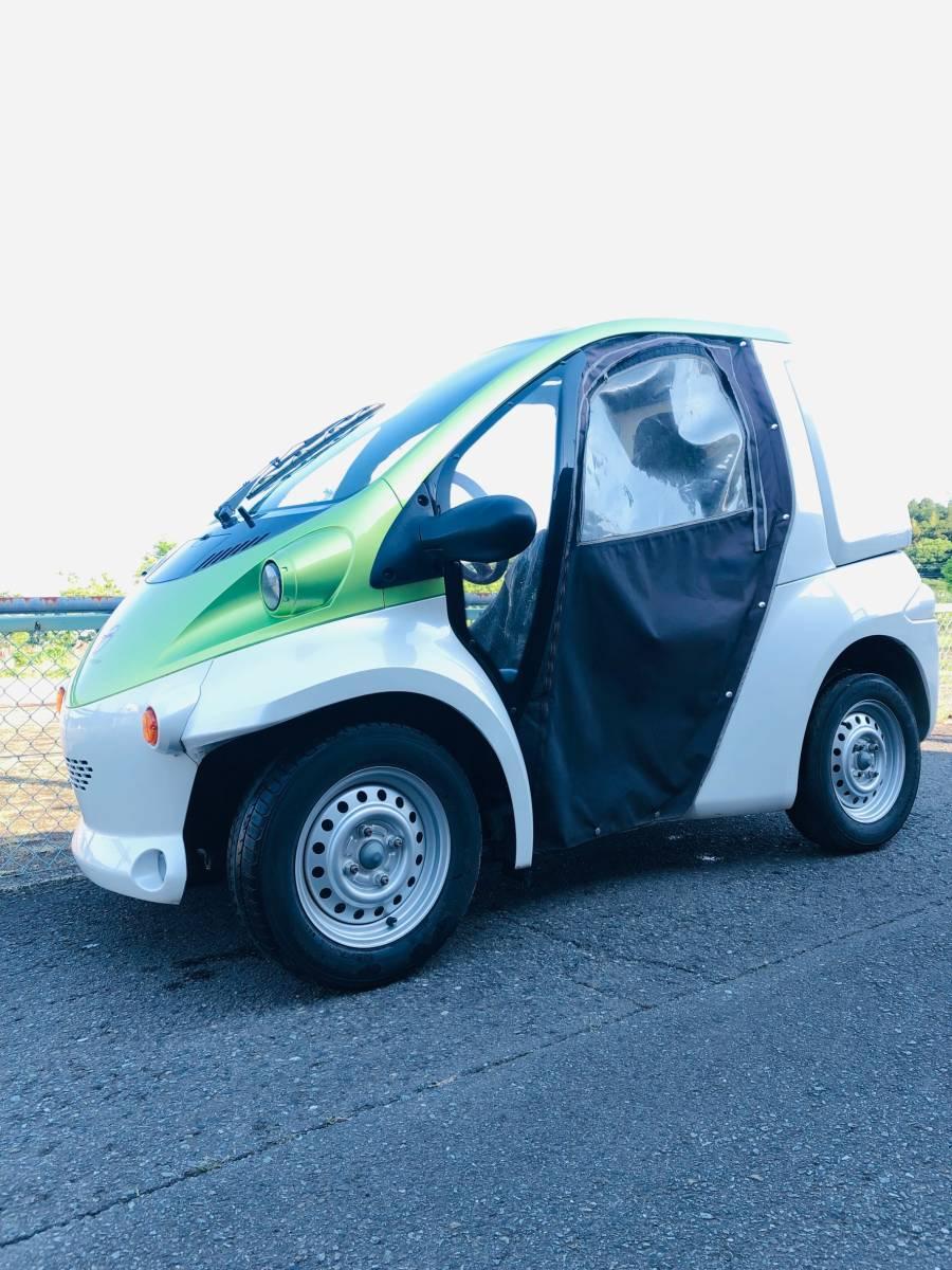 トヨタ車体 コムス 走行12,055km 単相100V充電 超小型EV ミニカー登録 電気自動車 書類・充電コード付_画像2